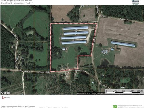 4 Premium Pay Broiler Houses For Sa : Forest : Scott County : Mississippi