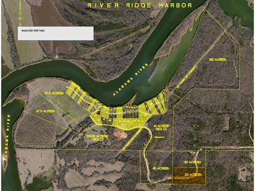 River Ridge Harbor-South, 20 Acres : Montgomery : Alabama