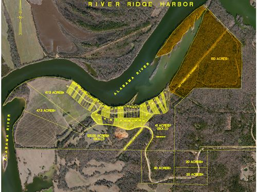 River Ridge Harbor 150 Acres : Montgomery : Alabama