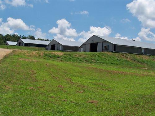 Grigsby Farm, 4 House Broiler Farm : Boaz : Etowah County : Alabama