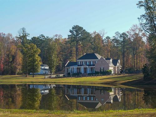 Equestrian Estate 2 Homes 16 Acres : Macon : Monroe County : Georgia