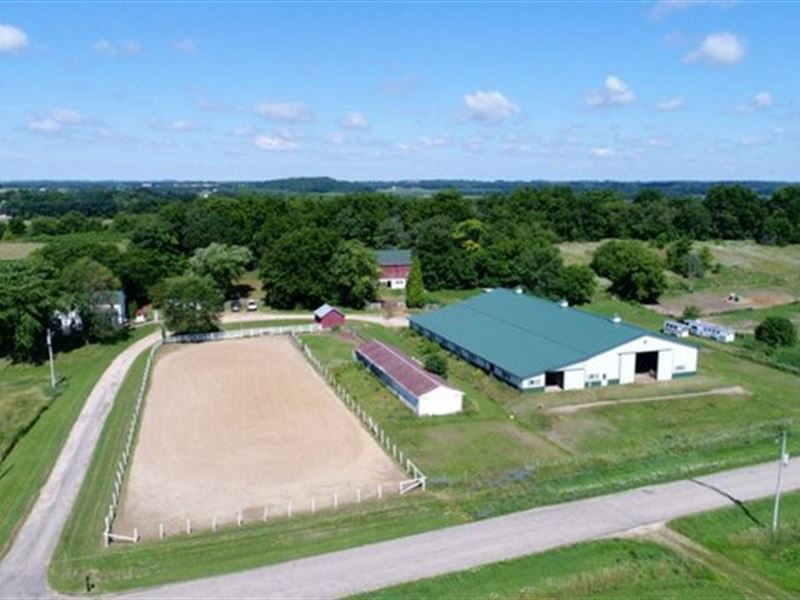 Amazing 87 Acres With Horse Arena : Marshall : Dane County : Wisconsin