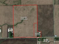 110Ac Wilton Township Farm : Peotone : Will County : Illinois
