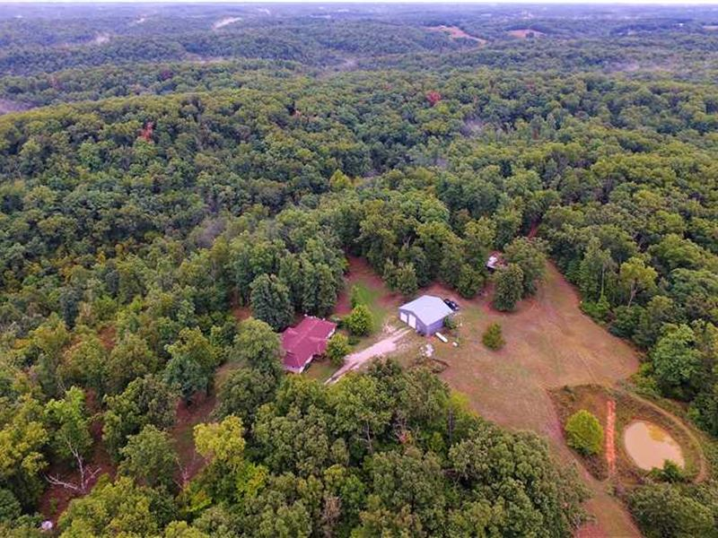 Home And Shop on 78 Acres : Washburn : Barry County : Missouri