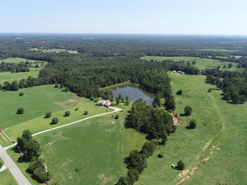 189 Acres With Home, Ponds, Pasture : Lincolnton : Lincoln County : Georgia