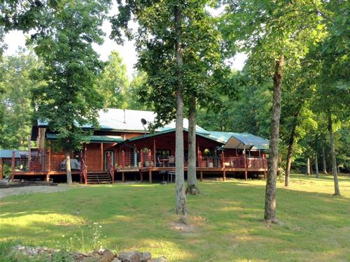 Lodge Style Home 130 Acres Ozarks : Ravenden : Sharp County : Arkansas