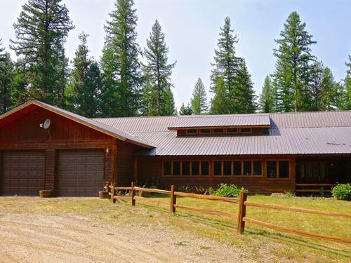 Buck Creek Log Home : Condon : Missoula County : Montana
