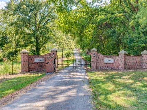 Custom Home On 15 Wooded Acres : Columbia : Maury County : Tennessee
