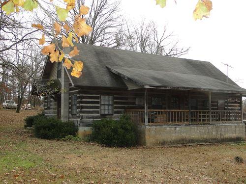 Arkansas Log Home With Acreage : Evening Shade : Sharp County : Arkansas