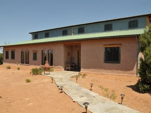 Custom Southwestern Strawbale Home : Glade Park : Mesa County : Colorado