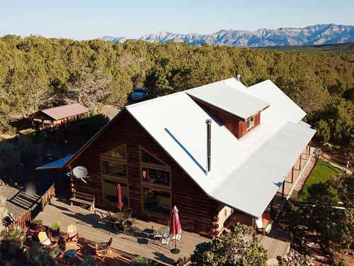 Colorado Log Home 40 Secluded Acres : Molina : Mesa County : Colorado