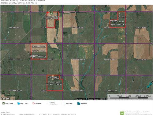 523 Acres Hunting, Pasture, Crop : Attica : Harper County : Kansas