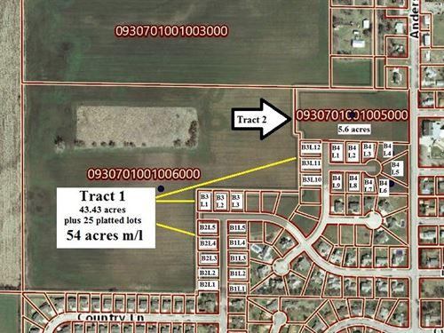 60 Acres M/L Farmland, Development : North Newton : Harvey County : Kansas
