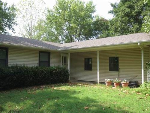Home, 20 Acres, Shop, Tranquility : El Dorado Springs : Cedar County : Missouri