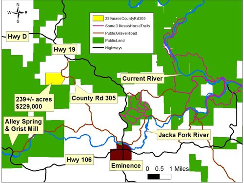 Missouri Hunting Land Inside Elk : Eminence : Shannon County : Missouri