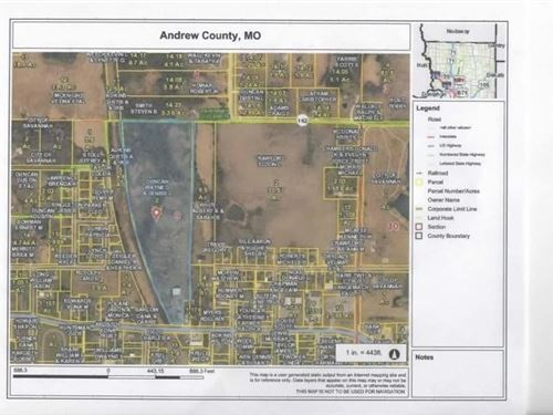 24 Acres Land Amenities Savannah : Savannah : Andrew County : Missouri
