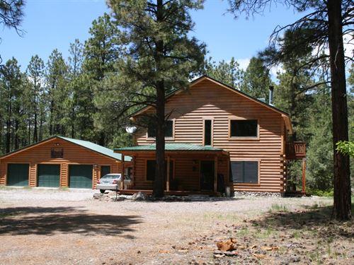 Custom Built Old Timber Cabin : Chama : Rio Arriba County : New Mexico