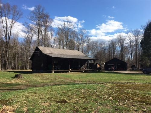 Real Log Home Southern Adirondacks : Coldbrook : Herkimer County : New York