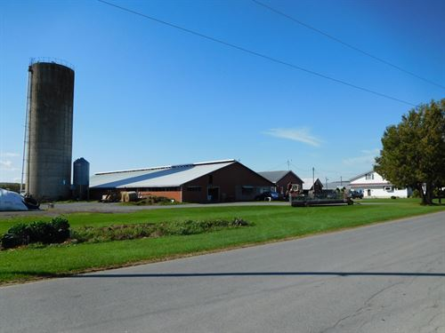 Large Dairy Farm : Lowville : Lewis County : New York