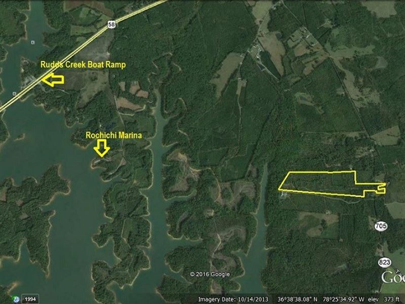 Reduced Lakefront Acreage Buggs : Boydton : Mecklenburg County : Virginia