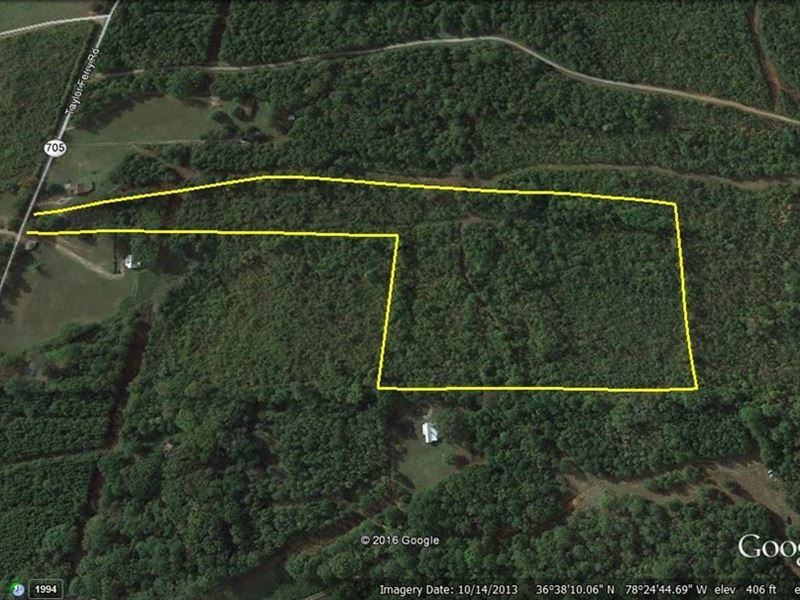 Reduced Lake Access Acreage Buggs : Boydton : Mecklenburg County : Virginia