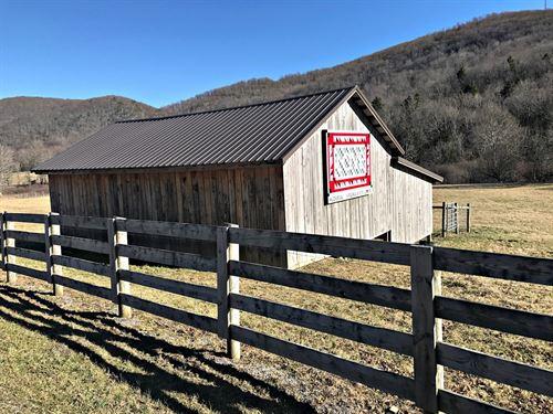 Land Amish Barn Burke's Garden, VA : Tazewell : Virginia