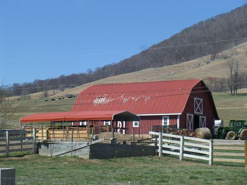 Magnificent Working Farm, House : Tazewell : Virginia