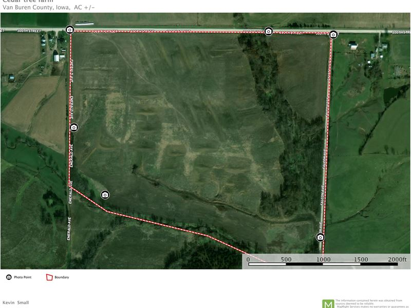 Cantril Iowa Map.Southern Iowa Farmland Row Crop Farm For Sale Cantril Van
