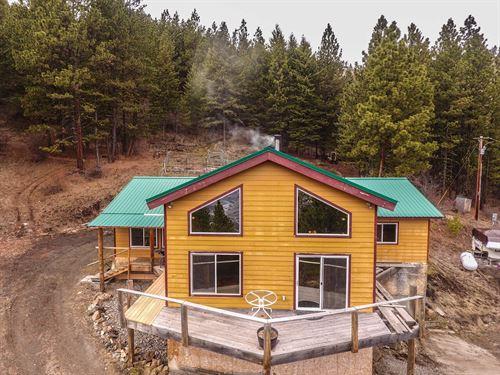 Mountain Cabin Views Salmon River : White Bird : Idaho County : Idaho