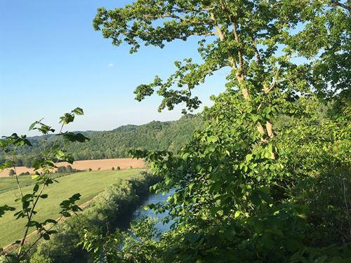 Land, Cumberland River : Burkesville : Cumberland County : Kentucky