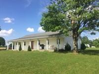 Country Home & 6 Acres, Barn : Liberty : Casey County : Kentucky