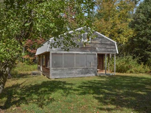 Camp in The Woods For Sale in Maine : Prentiss : Penobscot County : Maine