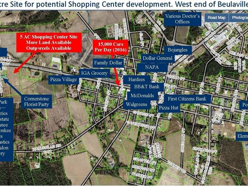 5 Acre Commercial Development Site : Beulaville : Duplin County : North Carolina