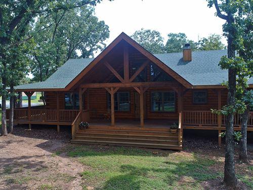Log Home 40 Acres Adair, Oklahoma : Adair : Mayes County : Oklahoma