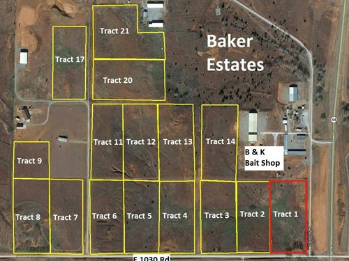 Foss Lake Home Building Lot : Foss : Custer County : Oklahoma