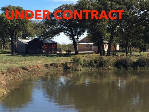 130 Acres / 3 Ponds + Farmhouse : Healdton : Carter County : Oklahoma