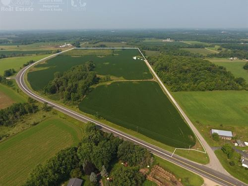Cropland in Central Wisconsin : New London : Waupaca County : Wisconsin