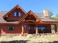 Luxury Colorado Mountain Log Home : Canon City : Fremont County : Colorado