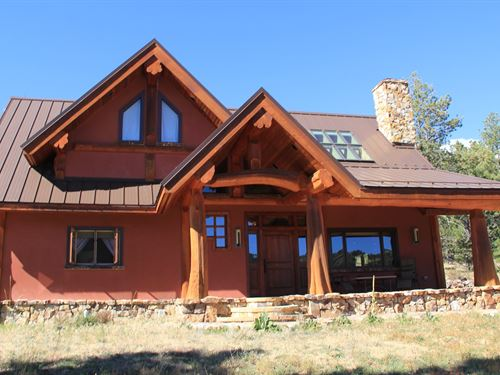 Luxury Colorado Mountain Log Home : Canon City : Fremont County : Colorado