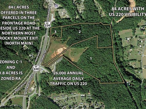 Auction 84 Acres In 3 Tracts : Rocky Mount : Franklin County : Virginia