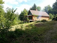 Log Cabin in Island Falls Maine : Island Falls : Aroostook County : Maine
