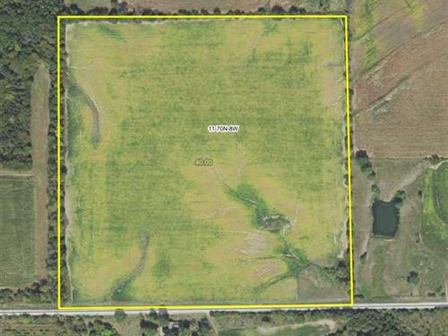 40 Acres Van Buren County Farmland : Stockport : Van Buren County : Iowa