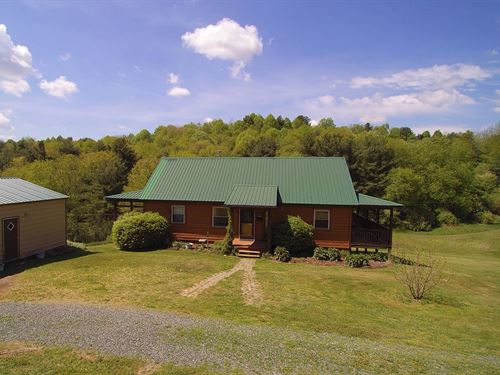 Mini Farm in Blue Ridge Mountains : Fries : Grayson County : Virginia