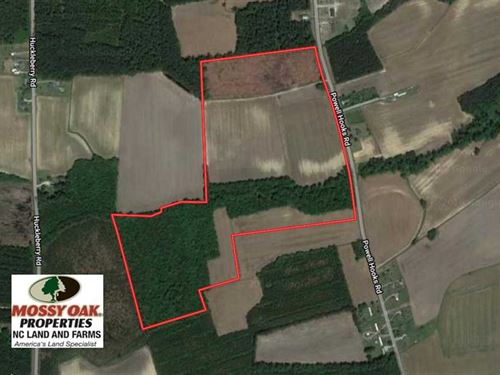 61.43 Acres of Farm And Timber Lan : Lucama : Wilson County : North Carolina