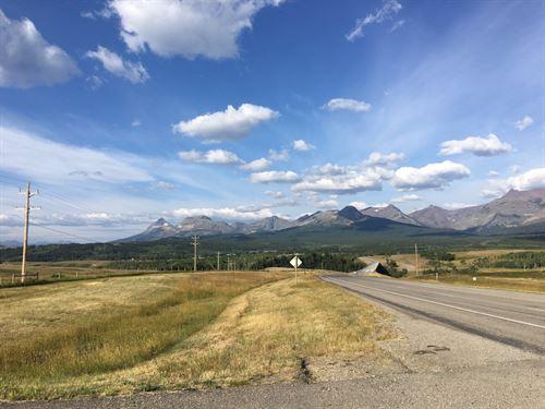 Hwy 2 Frontage 5 Acres : East Glacier Park : Glacier County : Montana