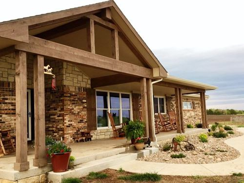 Custom Country Home, Stunning : Augusta : Butler County : Kansas