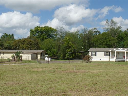 2 Homes 10 Acres, East Tx Country : Quitman : Wood County : Texas