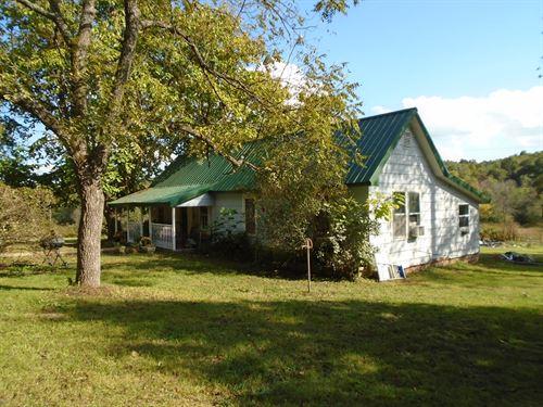Missouri Farmhouse on 80 Acres : Centerville : Reynolds County : Missouri