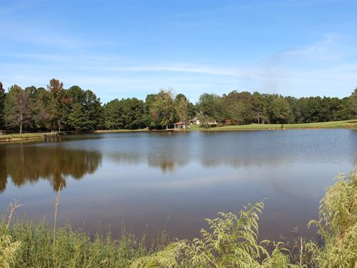 Farm With House And 4 Acre Pond : Wilsonville : Shelby County : Alabama