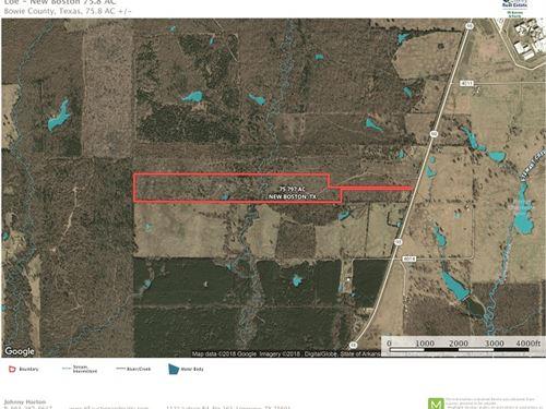 Texas & Arkansas Land : New Boston : Bowie County : Texas